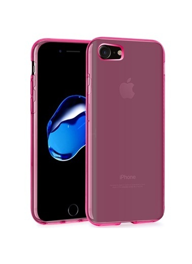 Microsonic iPhone 8 Kılıf Transparent Soft  Pembe